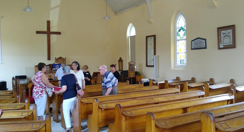 Visit to local Rylstone church on Sunday morning