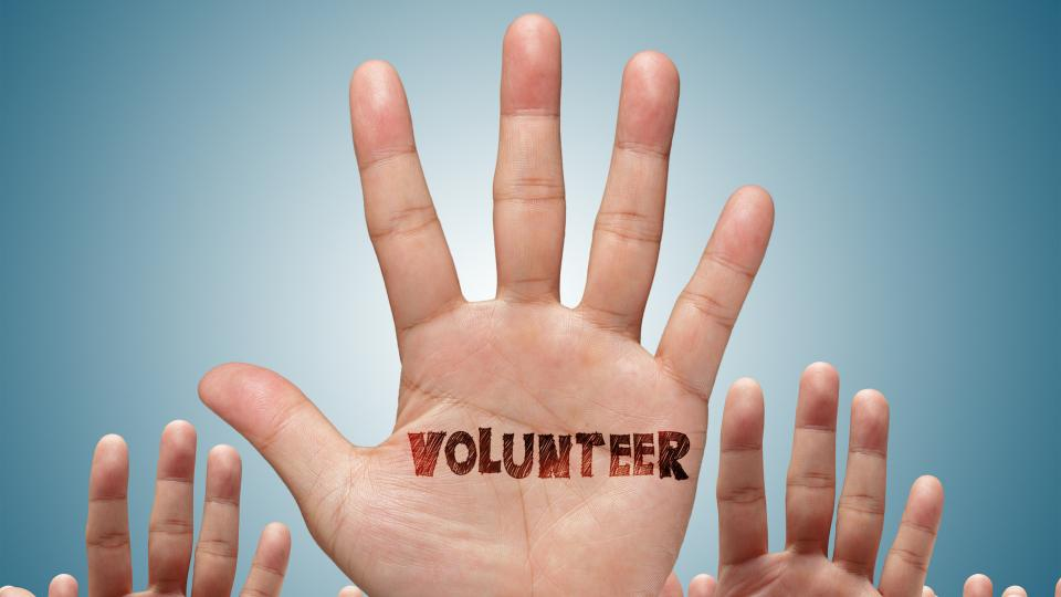 Hands up for volunteering