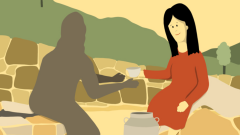 picture Jesus talking to woman at the well